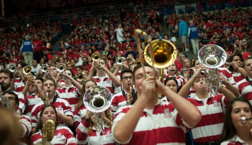 UA Pep Band at Arizona Basketball game